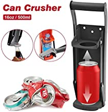 Can Crusher 2 In 1 Bottle Opener Wall Mounted Metal Can Smasher Compressor For 12 Or 16 Ounce Beer Soda Cans