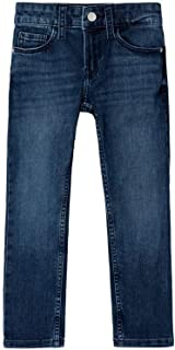 Calvin Klein IB0IB00229 911 Essential Blue Stretch - Pantalón Vaquero para niño
