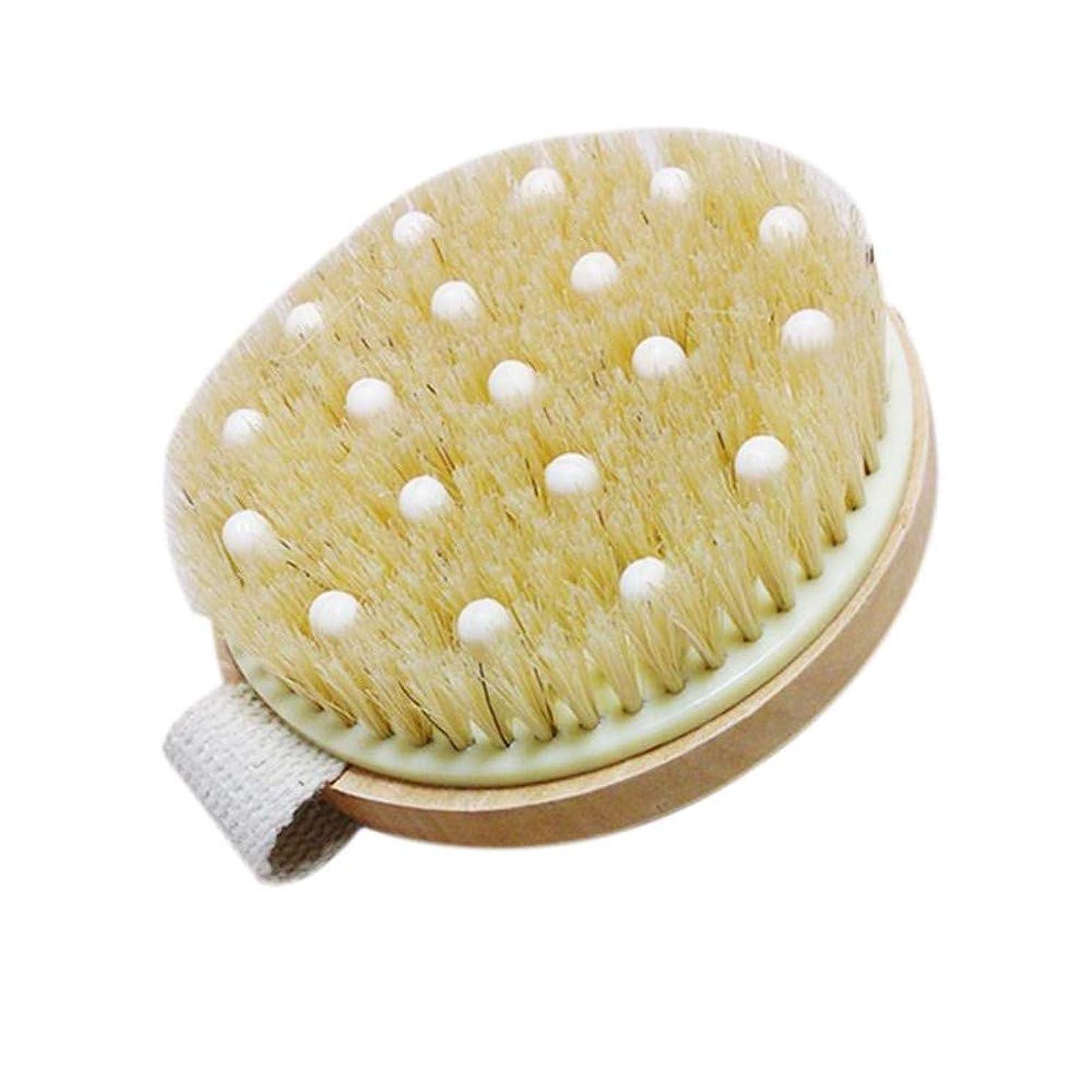 褒賞基礎理論予算YMBJGSXYS 浴室のシャワーの剛毛はバンド木のシャワーボディ浴室のブラシが付いているボディ?ブラシにブラシをかけます
