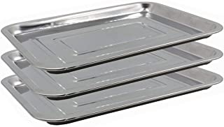 Tattoo Stainless Steel Tray, CINRA 3 Pack 13.5