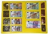 WISSNER Caja de almacenamiento con 130 billetes y monedas 160 para la Escuela Preescolar