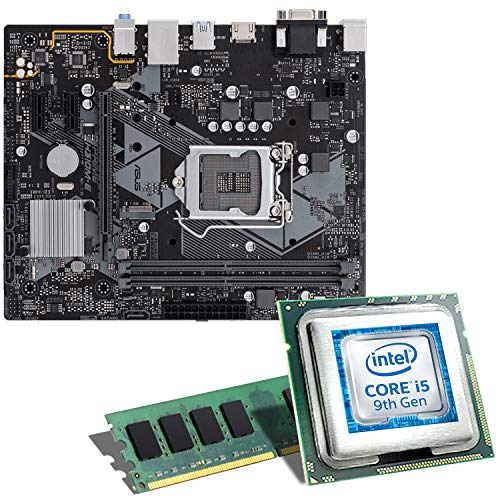 Intel Core i5-9400F / ASUS Prime H310M-E Mainboard Bundle / 8GB | CSL PC Aufrüstkit | Intel Core i5-9400F 6X 2900 MHz, 8GB DDR4-RAM, GigLAN, 7.1 Sound, USB 3.1 | Aufrüstset | PC Tuning Kit