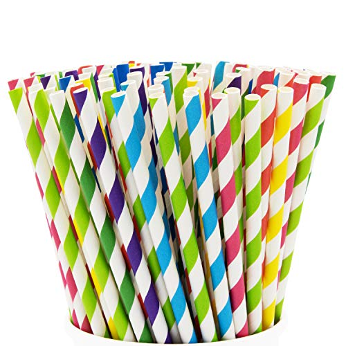 Paper Drinking Straws - Assorted Colors