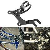 Adaptador de cuadro Pieza de soporte de montaje Desgaste de alta robustez - Soporte de modificación de freno de disco de bicicleta para montar en senderos para competencias de entrenamiento(32, Black)