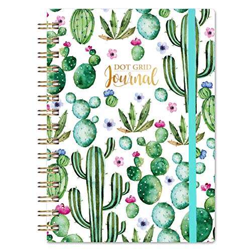 """Bullet Dotted Journal/Notebook - Dotted Grid Journal/Notebook Bullet with Premium Thick Paper, 5.75"""" X 8.5"""", Strong Twin-Wire Binding, Hardcover & Inner Pocket for School, Home and Office Supplies"""