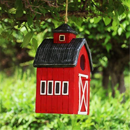 Bird Nidal Opción casa for pájaros retro Artes y artes Country Cottages alimentador del pájaro Casa Creativa casa for pájaros decoración al aire libre perfecto Gifting for los niños al aire libre de m
