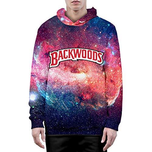 Moletom com capuz 3D Galaxy Backwoods moletom masculino feminino novidade casaco moletom moletom com capuz Backwoods suéter (A,P)