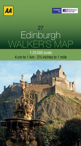 Edinburgh (AA Essential Spiral Guides) [Idioma Inglés]: 27 (Walker's Map)