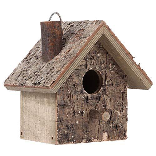 Mini casa de madera de nidos de pájaros, caja de nido colgante a prueba de humedad exterior Birdhouse Garden Patio nido decorativo Con abertura, textura suave, para mantener el pájaro caliente
