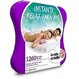 LA VIDA ES BELLA - Caja Regalo - INSTANTE RELAX PARA DOS - 1260 planes de bienestar como masajes, manicuras, circuitos de aguas y mucho más