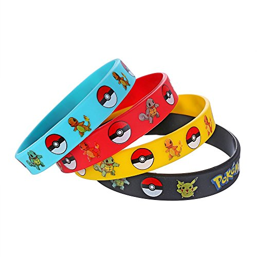 PIXEL Products POKE PARTY - Kids Birthday Party Bags, Favours, Supplies, Loot (12 Wristbands)