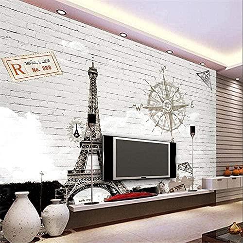 Personalizar cualquier tamaño de papel 3D 3D abstracto pintado a mano París Torre Eiffel Papel tapiz de TV Papier Peint Mural 3D Aprox. * 430cmx300cm Papel tapiz fotográfico no tejido-póster-mural-adh