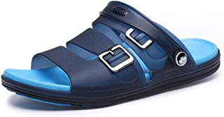 Aomoto Men's Fashion Sandals Casual Simple Lightweight Summer Buckle Dual-use Slippers