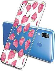 Oihxse Funda Samsung Galaxy M30, Ultra Delgado Transparente TPU Silicona Case Suave Claro Elegante Creativa Patrón Bumper Carcasa Anti-Arañazos Anti-Choque Protección Caso Cover (A10)