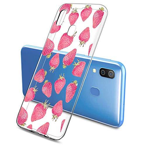 Oihxse Funda Samsung Galaxy A5 2018/A8 2018, Ultra Delgado Transparente TPU Silicona Case Suave Claro Elegante Creativa Patrón Bumper Carcasa Anti-Arañazos Anti-Choque Protección Caso Cover (A10)