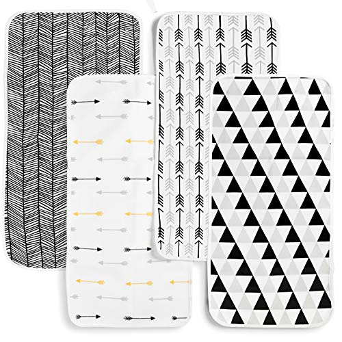 Changing Pad Liner 4 Pack – Waterproof Changing Pad Cover...