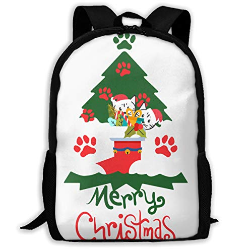 Meowy Christmas Cat Green Tree Ugly Christmas Gift Adult Unisex Backpack Where To Buy Paper Snowflakes,snowflake Cutouts To Buy
