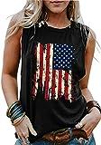 American Flag Tank Tops Women Patriotic Shirt...