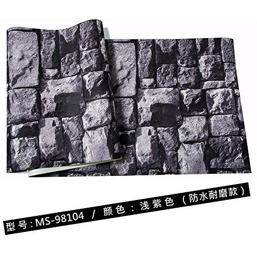 Multi-wallpaper 3D bakstenen behang nagemaakte marmer woonkamer achtergrond antieke baksteen lichtpaars