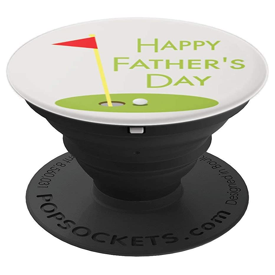 2019 Fathers Day Golf Themed Gift For Men- Happy Fathers Day - PopSockets Grip and Stand for Phones and Tablets