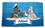 Fahne / Flagge AHOI Seehund Robbe 90 x 150 cm