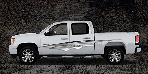 2 Car Truck Trailer Side Decals Graphics Stripes Vinyl #A1N (5ft Long 60
