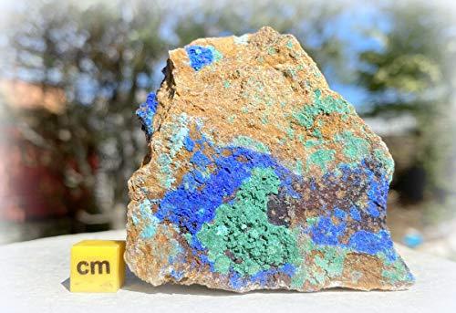 SilverGeo Azurit – Heilendes Mineral, Kristall, Stein – RSA507 100% echt