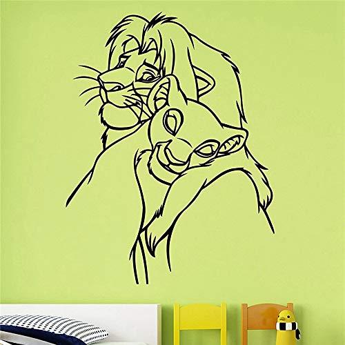 Lion King Autocollant Mural Stickers Roi Lion Autocollant Art Décorations De Décoration De Maison Pour La Maison Enfants Bébé Garçons Filles Chambre Décor De Bande Dessinée
