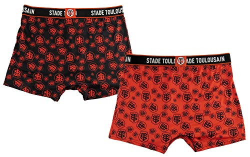 Stade Toulousain 2 x Boxer Toulouse - Collection Officielle - Rugby - Homme XL