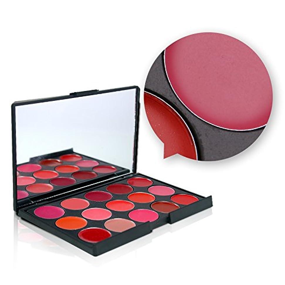 相互接続値下げテクニカルMiss Rose 15 Colors Matte Lipstick Palette Waterproof Nutritious Lips Makeup Long Lasting Brand Lipstick