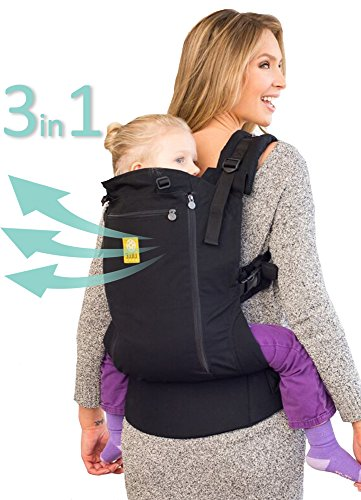 LÍLLÉbaby CarryOn All Seasons 3-in-1 Ergonomic Toddler & Child Carrier, Black - 20 to 60 lbs