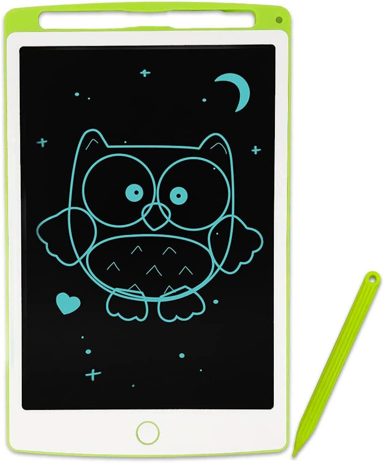 JONZOO LCD Writing Tablet for Kids, 10 inch Drawing Board Tablet Doodle Board for Kids 3 Years+, Erasable Kids Drawing Tablet with Screen Lock, Green