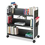 Safco Scoot Double-Sided Book Cart with 6...