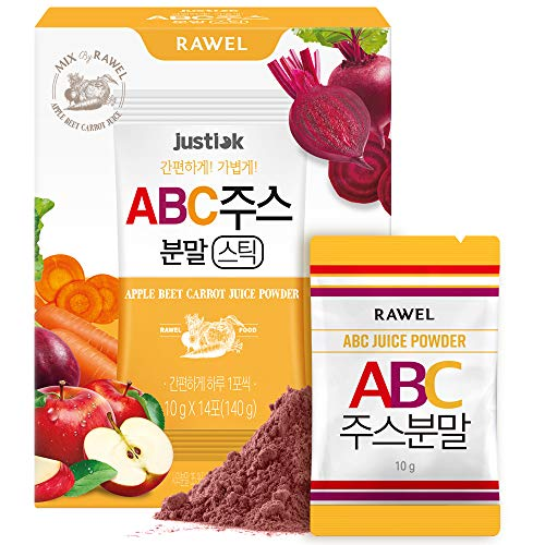 Rawel ABC(Apple, Beetroot, Carrot) Juice Powder for Detox Cleanse Stick Powder (10g*14stick)