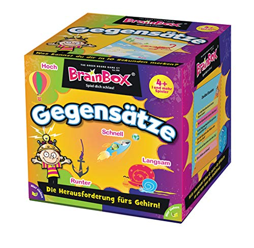 BRAIN BOX 94928 Gegensätze, Lernspiel, Quizspiel für Kinder ab 4 Jahren, Mehrfarbig