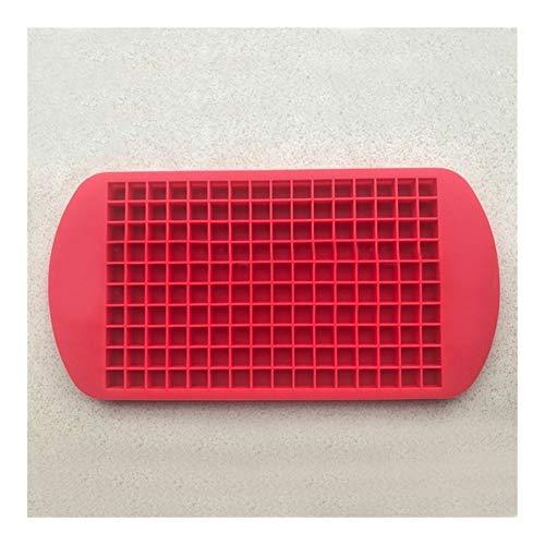 JYSLI - Bandeja de hielo de silicona para 160 rejillas de forma cuadrada para hacer hielo, diseño de cubitos de hielo, 24 x 12 cm