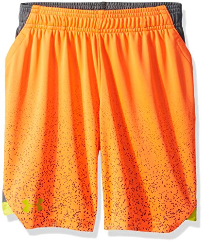 Under Armour Jungen Sc30 Shorts, Jungen, Shorts, Sc30 Shorts, Orange Glitch (882)/Lima Bean, X-Large