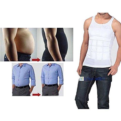Men's Man Boobs Slimming Upper Body Compression...