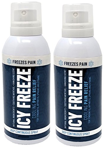 Icy Freeze Continuous Cooling Pain Relief Menthol Spray, 4 Ounce Each (Value Pack of 2)