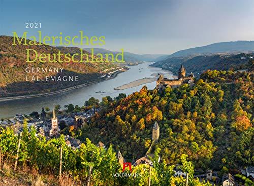 Malerisches Deutschland Kalender 2021, Wandkalender im Querformat (45x33 cm) - Landschaftskalender / Naturkalender / Sehenswürdigkeiten