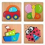 Walant Puzzle en 3D Enfant de 2 à 5 Ans Jouets éducatifs en Bois Puzzle Animaux...