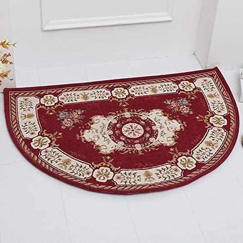 ZAQI Felpudos Entrada casa Alfombras de baño semicirculares Rojas, para Alfombrilla de baño para bañera, alfombras duraderas Lavables a máquina (Color : C, Size : 50×80CM/19.7×31.5 Inch)