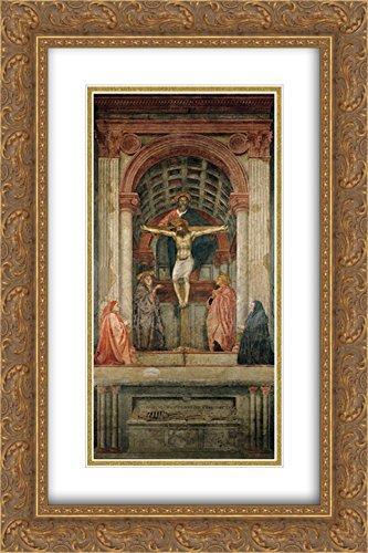 Masaccio 2X Matted 16x24 Gold Ornate Framed Art Print 'The Trinity'