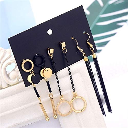 ZYJ Vintage Luipaard Oorbellen Set Mode Boheemse Handgemaakte Oorbellen Geometrische Polygonale Glamour Lady Sieraden