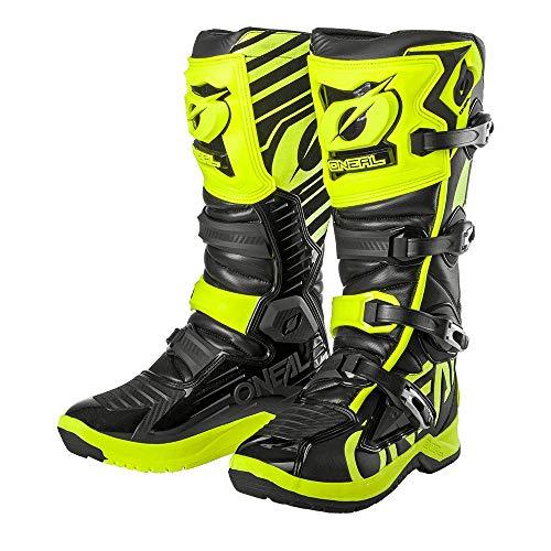 O'NEAL | Motocross-Stiefel | Enduro Motorrad | Anti-Rutsch Außensohle für maximalen Grip, Ergonomischer Fersenbereich, Perforiertes Innenfutter| RMX Boot EU | Erwachsene | Schwarz Neon-Gelb | Größe 46