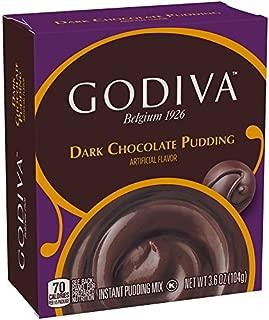 Godiva Dark Chocolate Instant Pudding Mix (3.6 oz Boxes Pack of 14)