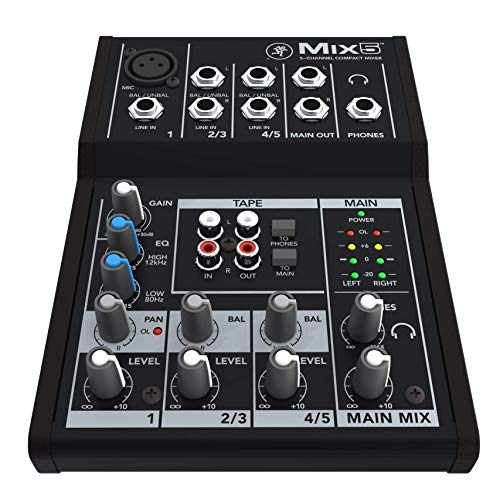 Mackie Mix Series Mix5 5-Channel Mixer,Black
