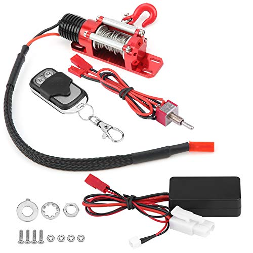 Tbest RC Winch, RC Metal Winch RC Model Vehicle Winch for 1/10 Scale RC Crawler Car