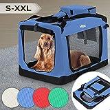 Leopet Hundebox aus Stoff - Faltbar und Tragbar, Größenwahl und Farbwahl, abwaschbar, für Hunde,...