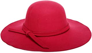 Lei Zhang Spring Europe and The United States Classic Models Along The Woolen Women's hat Fashion Ladies hat hat (Color : Red, Size : 57cm)